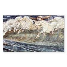 Ocean Waves as Horses - Neptunes Horses by Decal