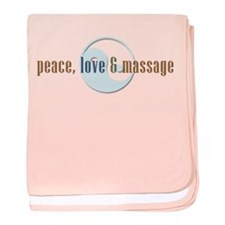 Peace, Love and Massage baby blanket