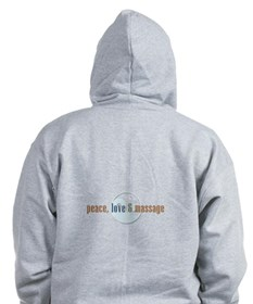 Peace, Love And Massage Zip Hoodie