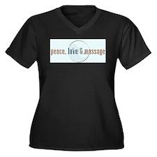 Peace, Love and Massage Plus Size T-Shirt