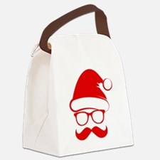 Hipster Christmas Canvas Lunch Bag