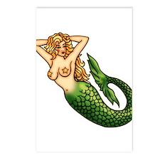 Mermaid Tattoo Art Postcards (Package of 8)