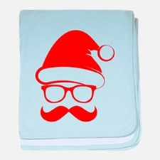 Hipster Christmas baby blanket