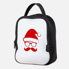 Hipster Christmas Neoprene Lunch Bag