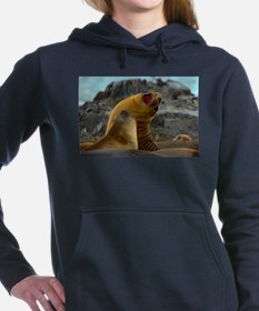 Elephant Seals Women's Hooded Sweatshirt