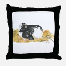 Rats cuddling Throw Pillow