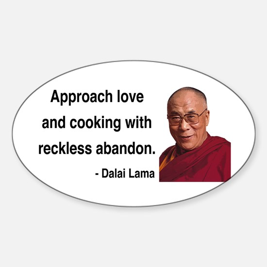 Dalai Lama 10 Oval Decal