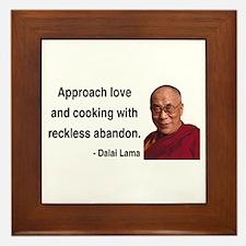 Dalai Lama 10 Framed Tile