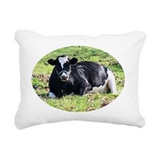 Resting Dairy Cow Rectangular Canvas Pillow