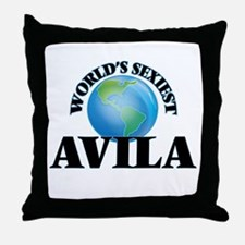 World's Sexiest Avila Throw Pillow