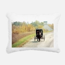 Autumn Amish Buggy Rectangular Canvas Pillow
