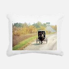 Autumn Amish Buggy Rectangular Canvas Pillow