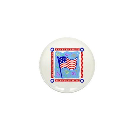 USA Flag Celebration Mini Button (100 pack)