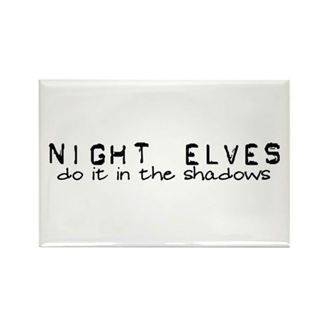 Night Elves Rectangle Magnet