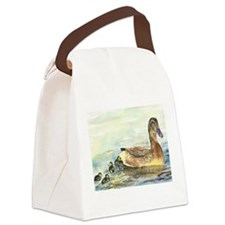 Duck and Ducklings Canvas Lunch Bag