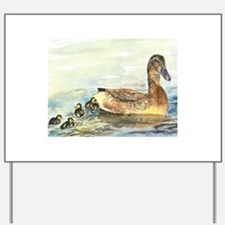 Duck and Ducklings Yard Sign