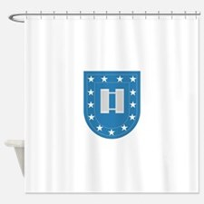 Army Flash Captain Insignia.png Shower Curtain