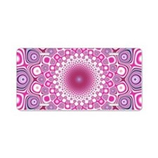 Funky Pink Aluminum License Plate