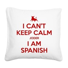 I Can't Keep Calm Square Canvas Pillow