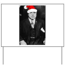 Al Capone Christmas Yard Sign