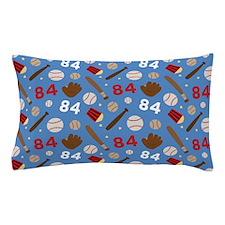 Baseball Number 84 Pillow Case