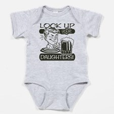 lock-up-your-daughters.png Baby Bodysuit