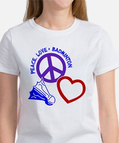 PEACE-LOVE-BADMINTON Women's T-Shirt