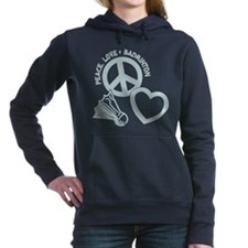 PEACE-LOVE-BADMINTON Women's Hooded Sweatshirt