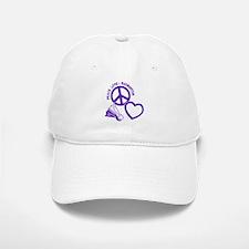 PEACE-LOVE-BADMINTON Baseball Baseball Cap