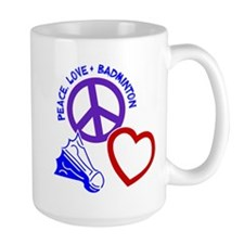 PEACE-LOVE-BADMINTON Mug