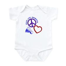 PEACE-LOVE-BADMINTON Infant Bodysuit