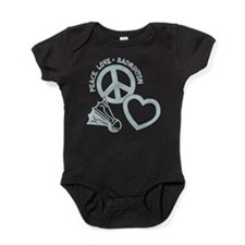 PEACE-LOVE-BADMINTON Baby Bodysuit