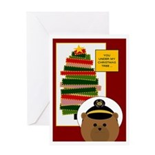 Coast Guard Enlisted Miss U @ Xmas Greeting Cards