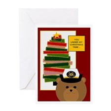 Coast Guard Enlisted Miss U @ Xmas Greeting Cards