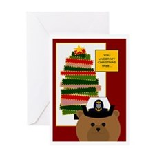 Coast Guard Chief Miss U @ Xmas Greeting Cards