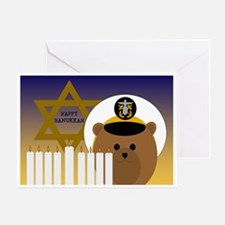 To Navy Officer Hanukkah Card Greeting Cards