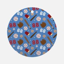 Baseball Number 88 Ornament (Round)