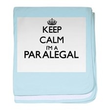 Keep calm I'm a Paralegal baby blanket