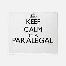 Keep calm I'm a Paralegal Throw Blanket