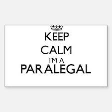 Keep calm I'm a Paralegal Decal