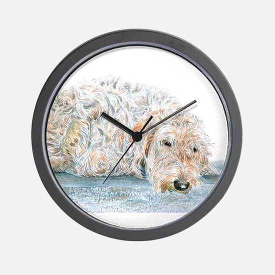 Sleepy Labradoodle Wall Clock