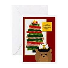 Coast Guard Officer Miss U @ Xmas Greeting Cards