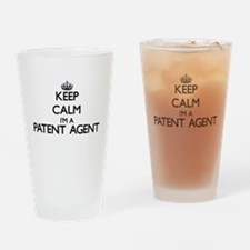 Keep calm I'm a Patent Agent Drinking Glass
