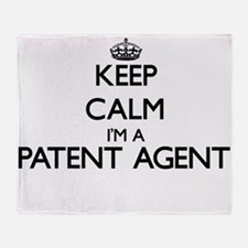 Keep calm I'm a Patent Agent Throw Blanket