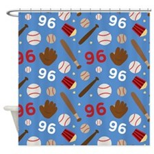 Baseball Number 96 Shower Curtain