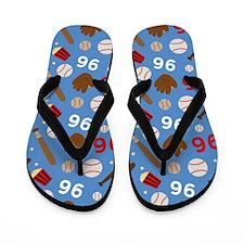 Baseball Number 96 Flip Flops