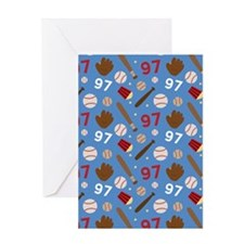 Baseball Number 97 Greeting Card