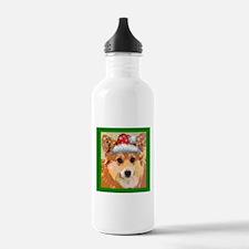 Santa Corgi Water Bottle