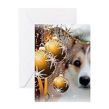 Holiday Sable Corgi Card Greeting Cards