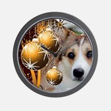 Sable Holiday Corgi Wall Clock